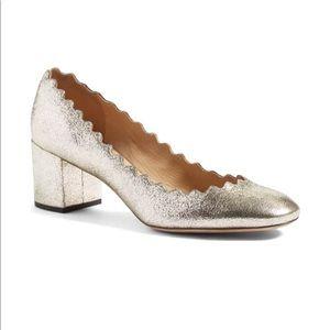 Chloe Lauren scalloped heels Sz 37.5